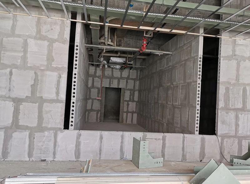 轻质隔墙石膏砌块安装效果
